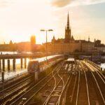 Metro tracks to old town, Stockholm