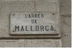 Carrer vs Calle de Mallorca