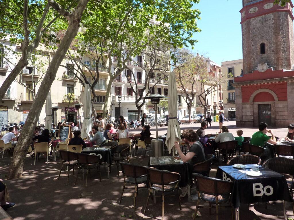 Vila de Gràcia Square, Barcelona, Spain